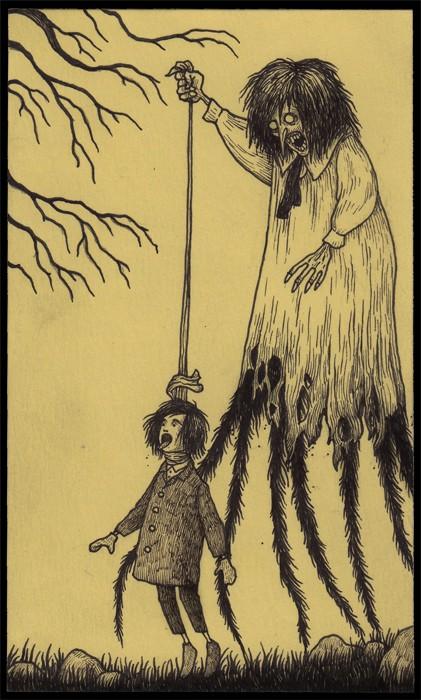 Ilustraciones en post-it para inducir pesadillas