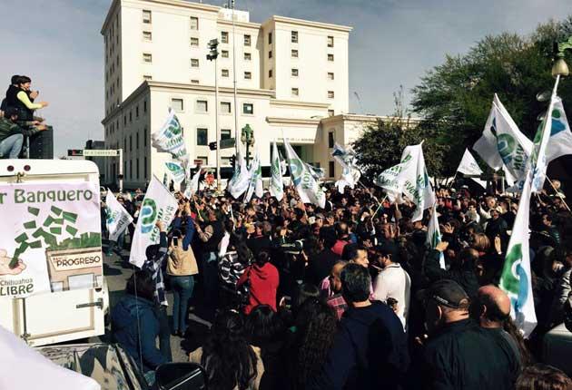 Protestan contra Duarte
