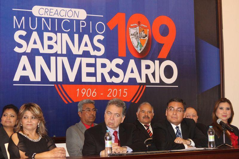 Se conmemora el 109 Aniversario de Sabinas