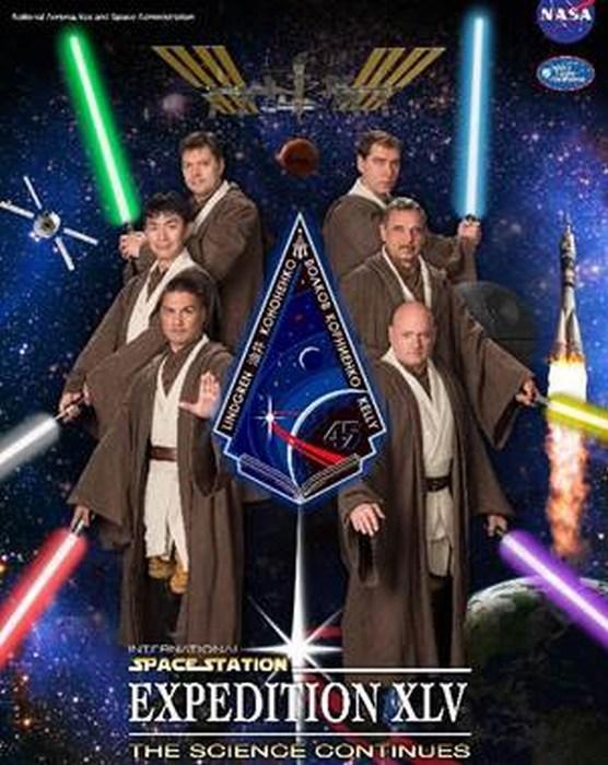 NASA transforma a sus astronautas en Jedis