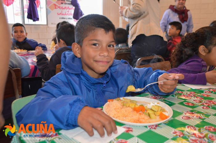 """Acuña: Inaugura sistema DIF """"Comedor Escolar"""" en primaria: """"Josefa Ortiz de Dominguez""""."""
