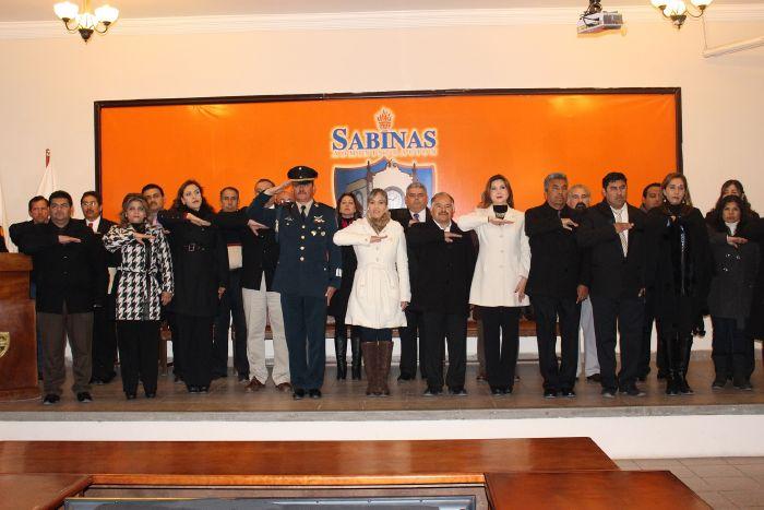Sabinas conmemora el 194 aniversario del Día de la Bandera