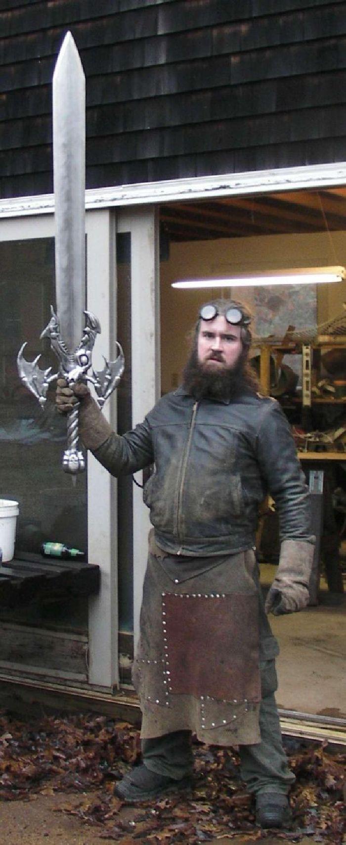 Armas blancas reales de videojuegos y películas creadas por el Herrero Michael Cthulhu