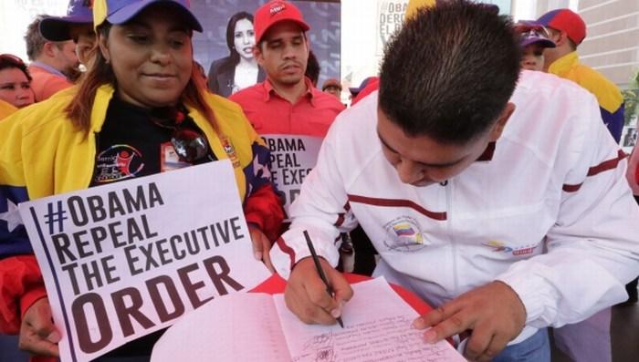 Rechazo al decreto contra Venezuela sigue en aumento.