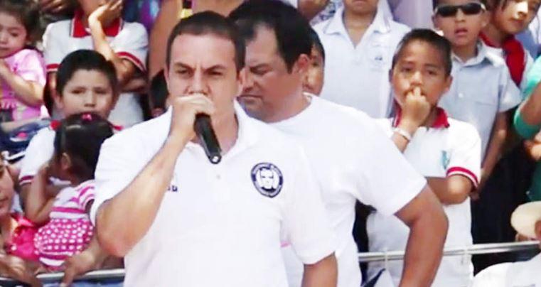 Cuauhtémoc Blanco se equivoca de partido en discurso