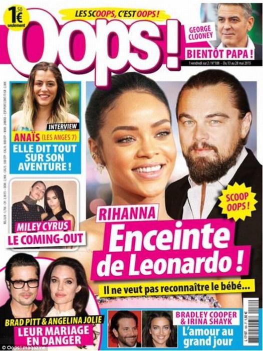 Leonardo Dicaprio demanda a revista francesa por publicar que embarazó a Rihanna
