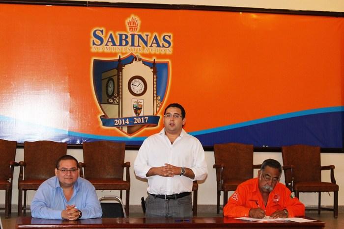 Instalan nuevo consejo de Protección Civil en Sabinas
