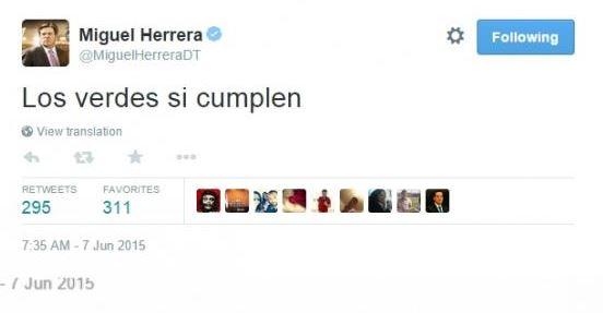 """""""Los verdes sí cumplen"""": 'Piojo' Herrera llama a votar ¿por el Verde?"""