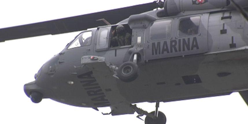 VIDEO: Atacan helicóptero de la Armada de México, en Nuevo Laredo