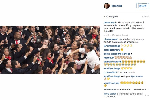 La polémica foto de EPN en Instagram