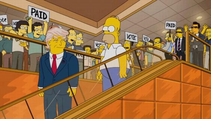 Hasta Los Simpson se ríen de Donald Trump