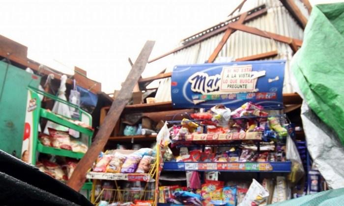 Daños en 215 viviendas de Chiapas por un tornado