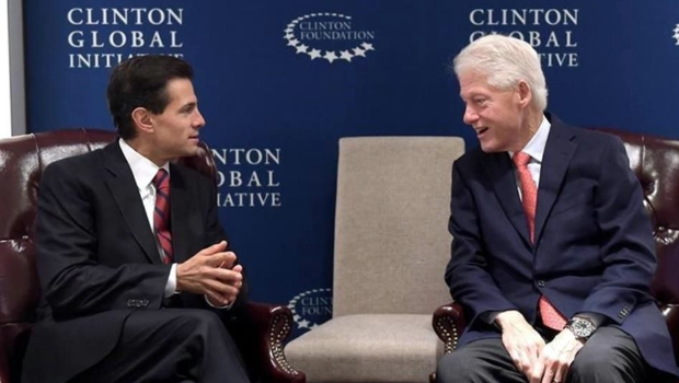 Peña Nieto aborda temas de interés ambiental con Bill Clinton