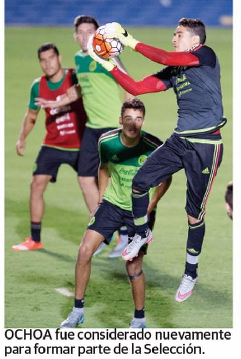 Ochoa y los Dos Santos, en prelista del Tuca Ferretti