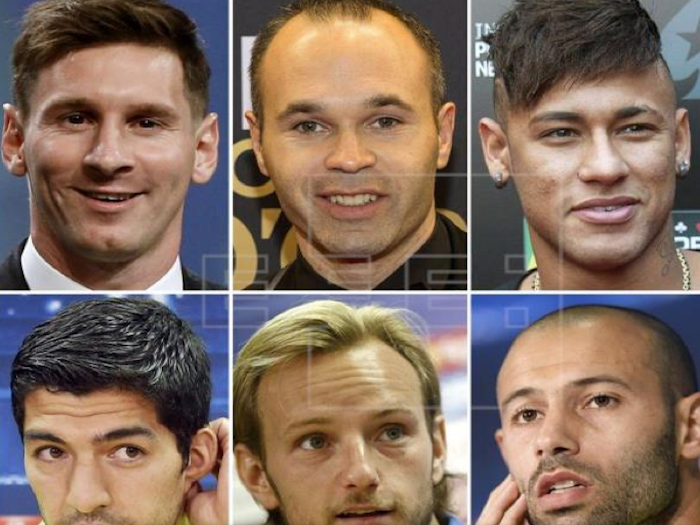 Messi, Ronaldo e Iniesta, aspirantes al Balón de Oro