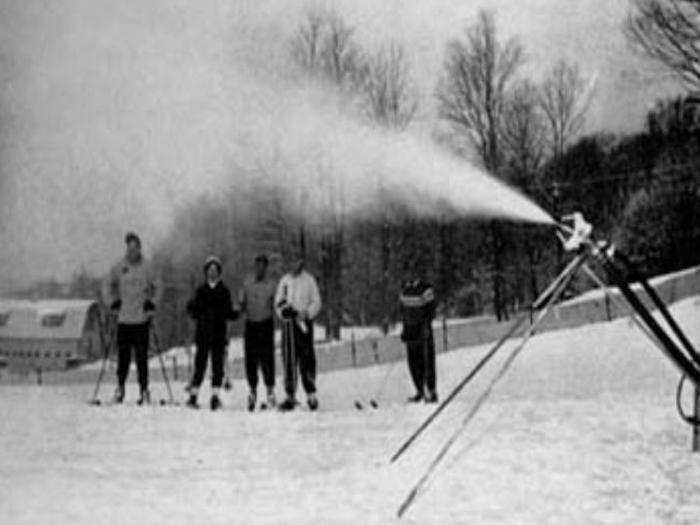 Ésta fue la primera vez que se hizo nieve artificial.