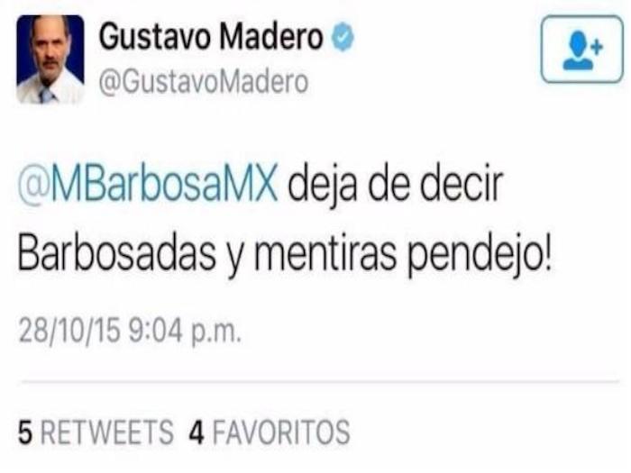 """""""Deja de decir mentiras pendejo"""", reclama Madero a Barbosa"""