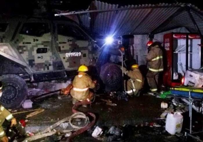 Aplasta un vehículo del Ejército a bebé y tres adultos en Reynosa