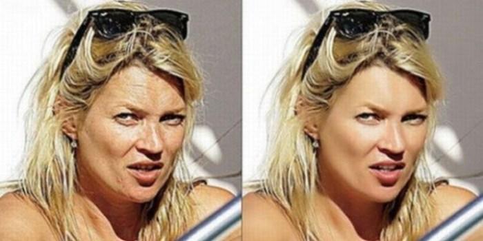 Fotos de celebridades antes y después del Photoshop