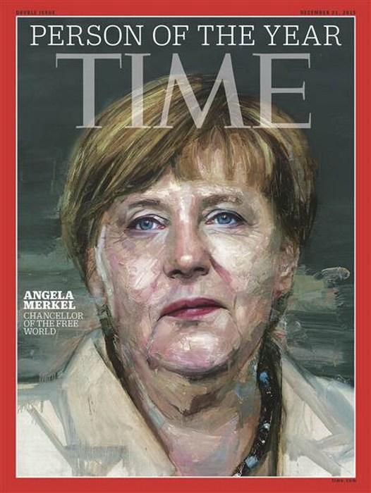 "Angela Merkel, ""personaje 2015"" de la revista 'Time'"