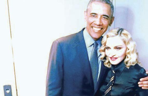 Madonna se queda sin palabras al conocer a Obama