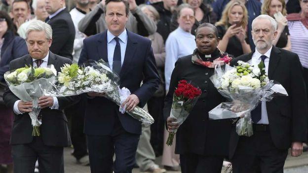 Cameron rinde homenaje a la diputada británica asesinada Jo Cox
