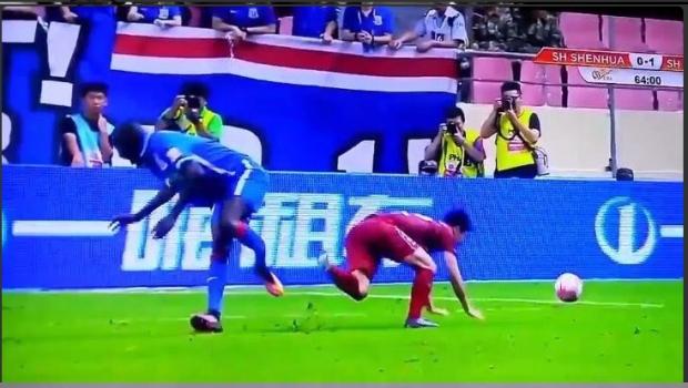 VIDEO: Terrorífica lesión de exChelsea en el futbol chino