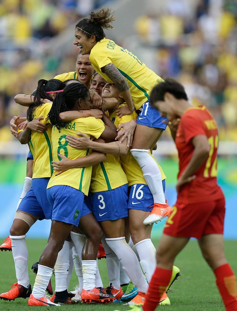 Primera alegría de Brasil en sus Juegos Olímpicos