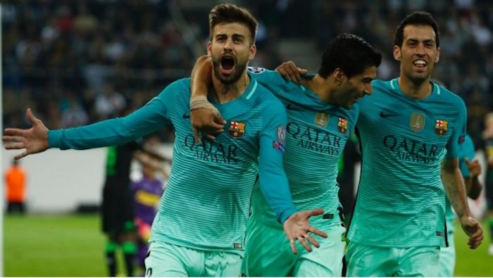 Piqué le da una victoria sufrida al Barça en Champions League