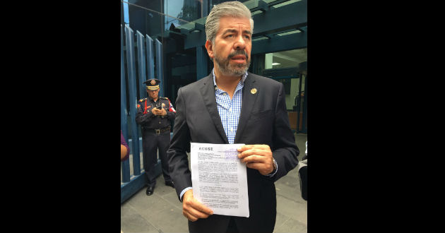 Vicepresidente del PRD denuncia a Pablo De Antuñano