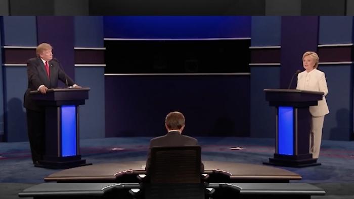 Sondeo da victoria a Clinton en tercer debate presidencial