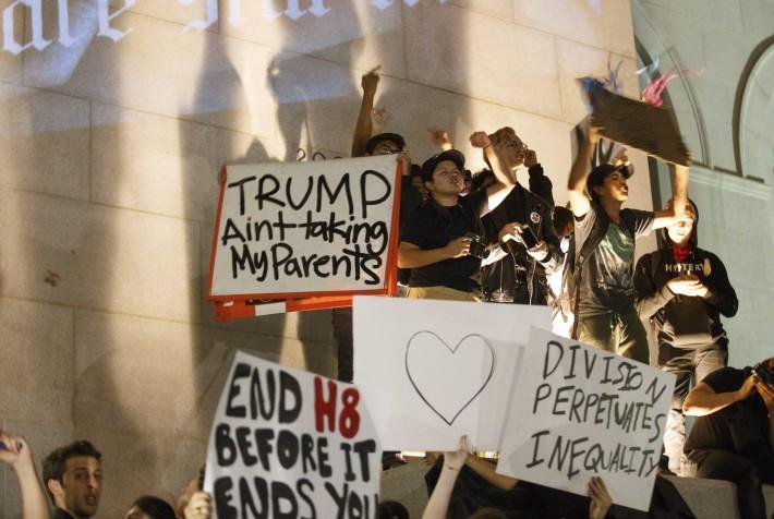 Estallan protestas anti-Trump en principales ciudades de EE.UU