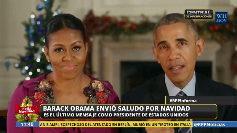 Barack Obama envió su último saludo navideño como presidente de EE.UU.