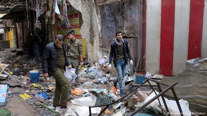 Decenas de víctimas en doble atentado en Bagdad