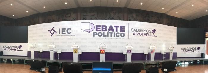 Alistan primer debate entre candidatos a la gubernatura de Coahuila