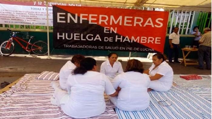 Enfermeras chiapanecas, en huelga de hambre; exigen insumos para hospitales