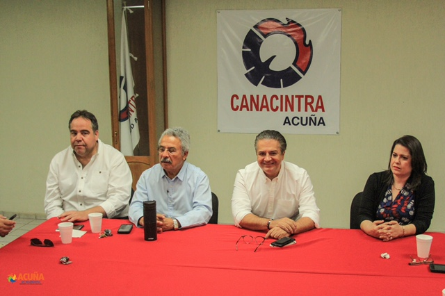 EL SECTOR EMPRESARIAL, ALCALDE DE ACUÑA INFORMA EL AVANCE DE PROYECTOS DE INFRAESTRUCTURA.