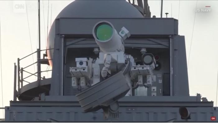 Presenta la Marina de EU el primer arma láser del mundo