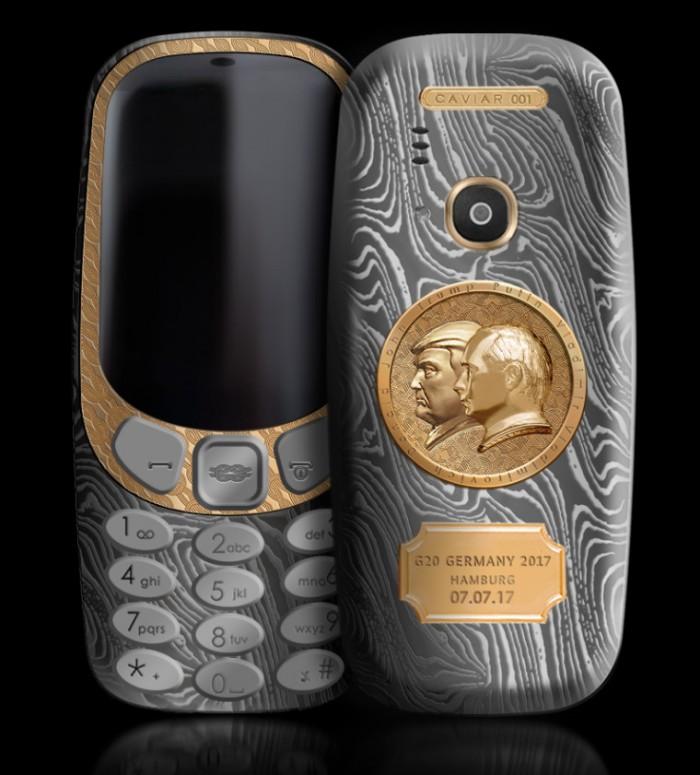 Lanzan un lujoso Nokia 3310 en honor a Trump y Putin
