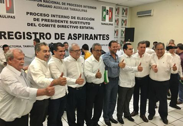 9 los aspirantes a la dirigencia del PRI en Tamaulipas.
