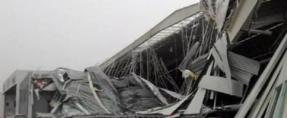 Destruyen vientos hangar del Aeropuerto del Norte