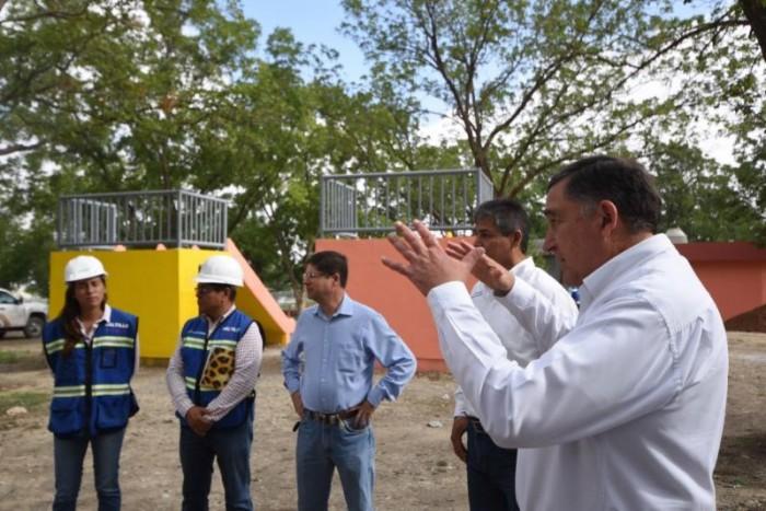 Supervisa Alcalde avance de parque Los Nogales