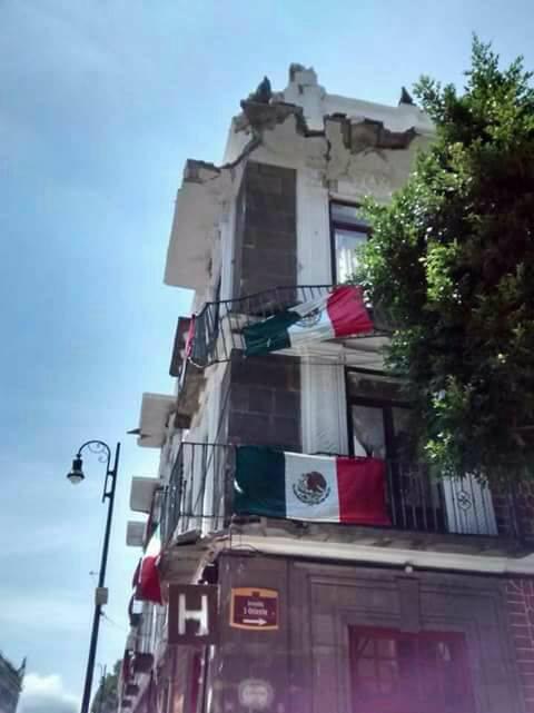 Puebla trás el sismo.