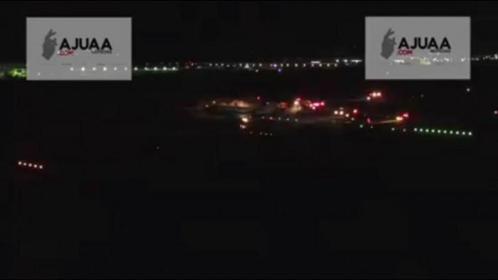 """Aterrizaje de emergencia en Aeropuerto """"Plan de Guadalupe"""" en Ramos Arizpe (video sin sonido)"""