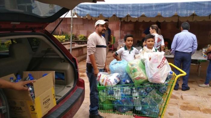 Responden saltillenses con apoyos para damnificados del sismo