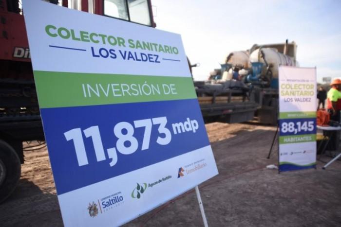 Arranca obra de colector sanitario Los Valdez