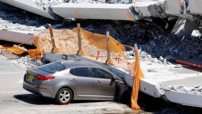 Un ingeniero avisó de que el puente que se derrumbó en Miami tenía grietas