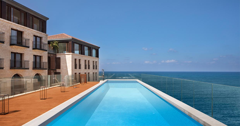 Este lujoso hotel fue construído en una antigua cárcel de Israel