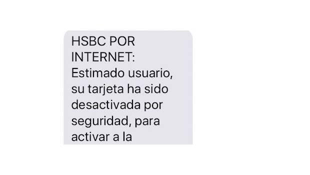 Condusef alerta a usuarios de HSBC por SMS apócrifo