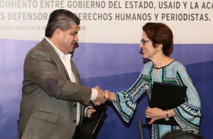 FIRMA EL GOBIERNO DEL ESTADO DE COAHUILA ACUERDO PARA LA PROTECCIÓN DE PERSONAS DEFENSORAS DE LOS DERECHOS HUMANOS Y PERIODISTAS.